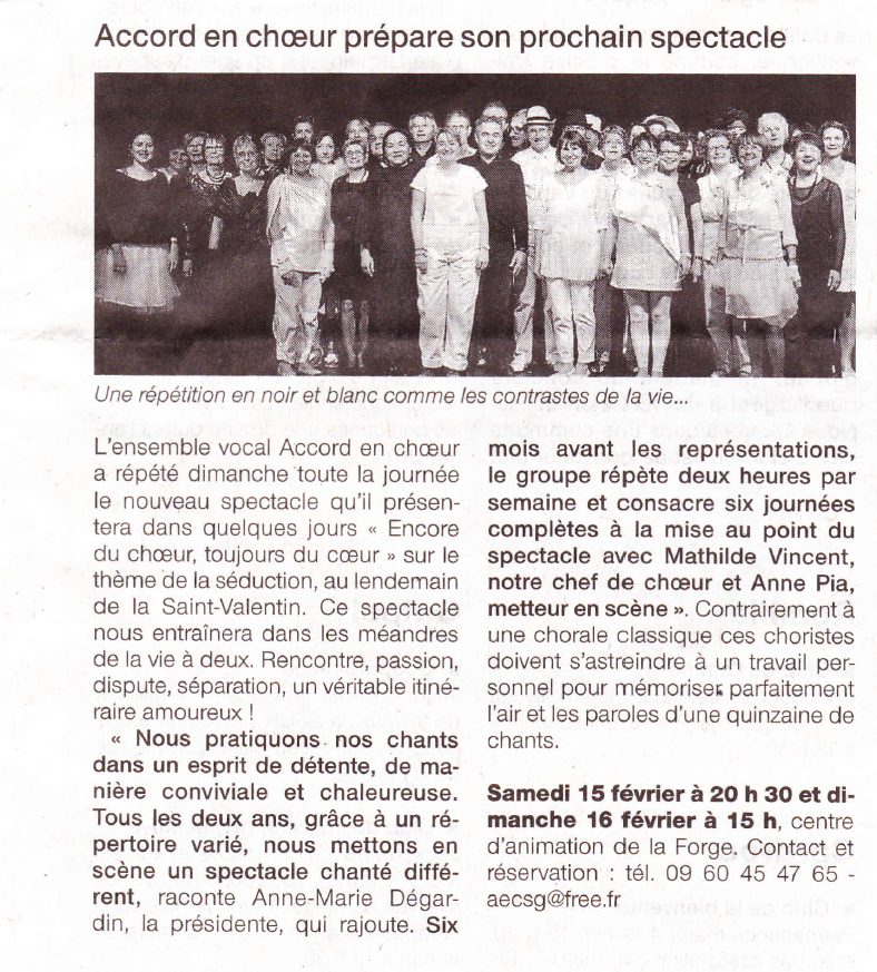 Ouest France 2014 Accord en Choeur