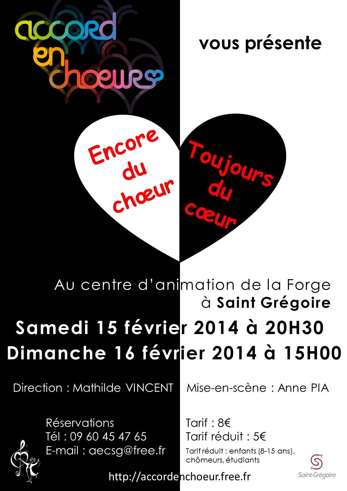 Accord en Choeur spectacle 2014